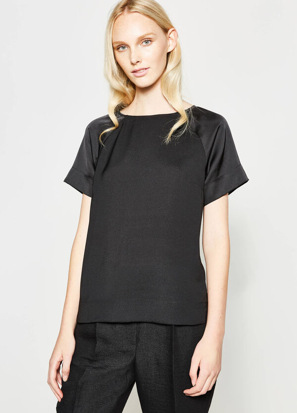 Satin blouse with short sleeves | OVS