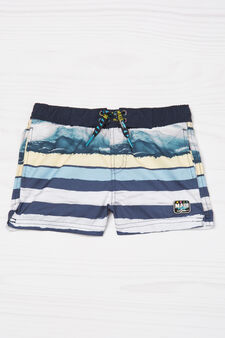 Striped swim boxer shorts by Maui and Sons, Multicolour, hi-res