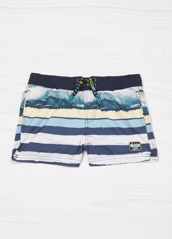Striped swim boxer shorts by Maui and Sons | OVS
