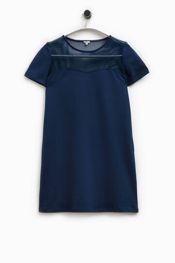 Smart Basic cotton dress with mesh