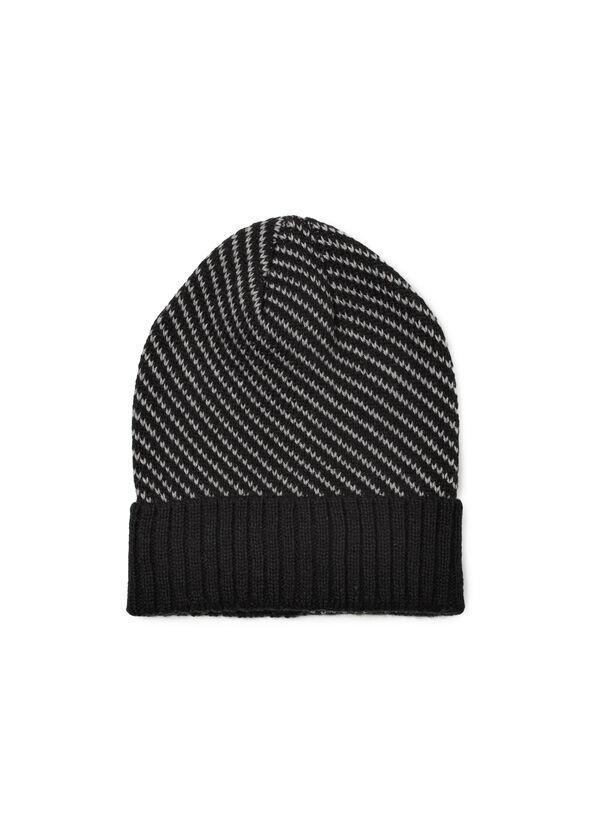 Ribbed beanie cap with brim | OVS