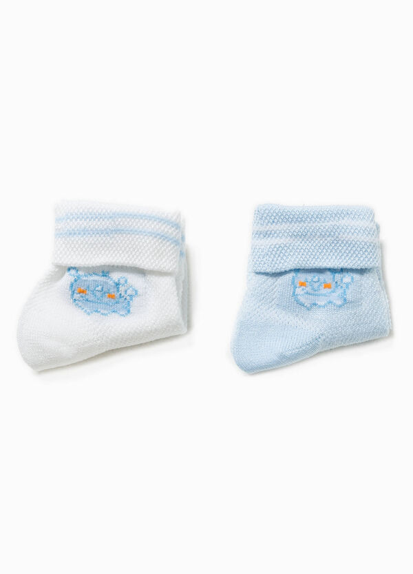 Two-pair pack socks with embroidery | OVS