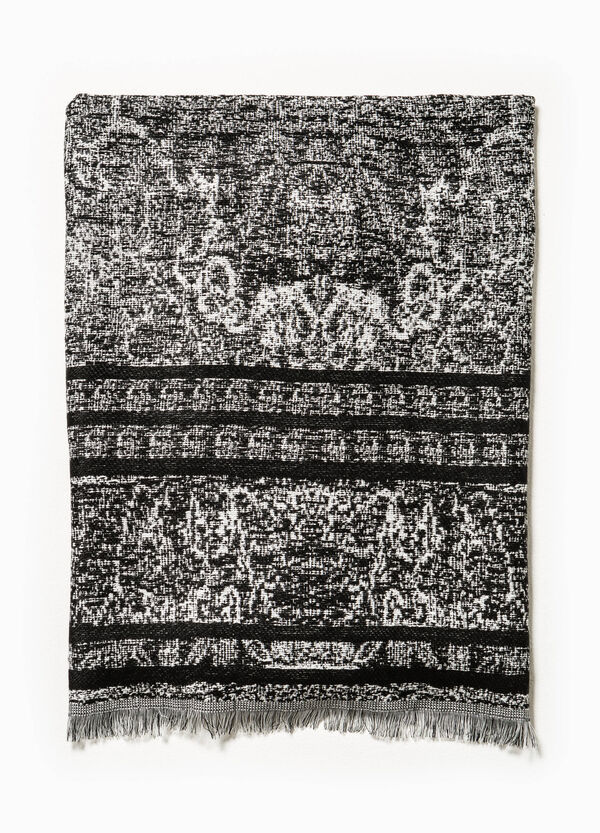 Scarf with jacquard pattern | OVS