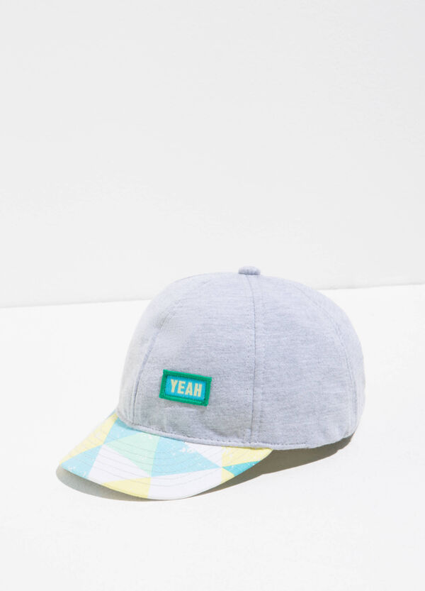 Baseball cap with pattern on the visor | OVS