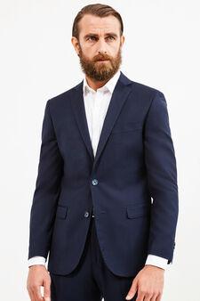 Regular-fit viscose blend jacket, Blue, hi-res