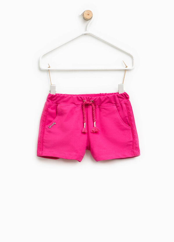 Shorts with lace bands on the sides | OVS