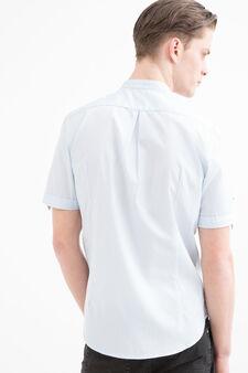 100% cotton shirt with mandarin collar, Light Blue, hi-res