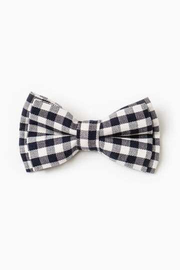 Check bowtie, Blue/Grey, hi-res
