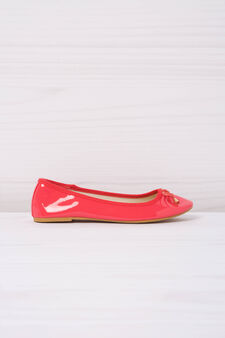 Ballerina flats with bow, Coral Pink, hi-res