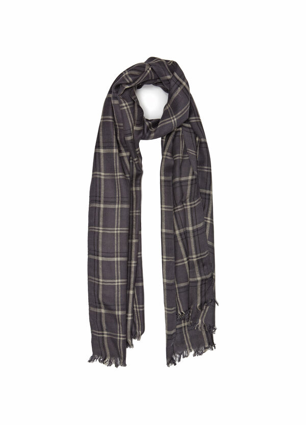 100% viscose check scarf | OVS