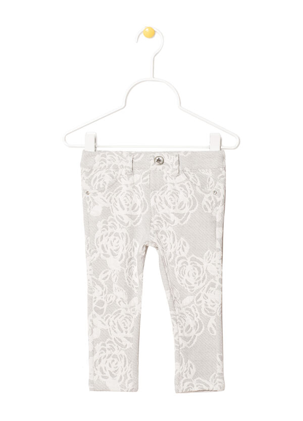 Jeans in jacquard floreale | OVS