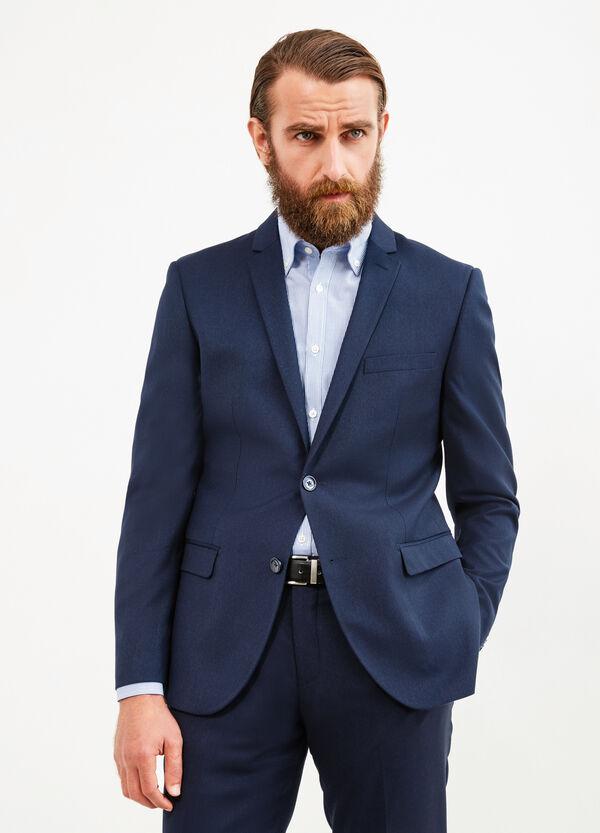 Slim-fit jacket in viscose blend | OVS