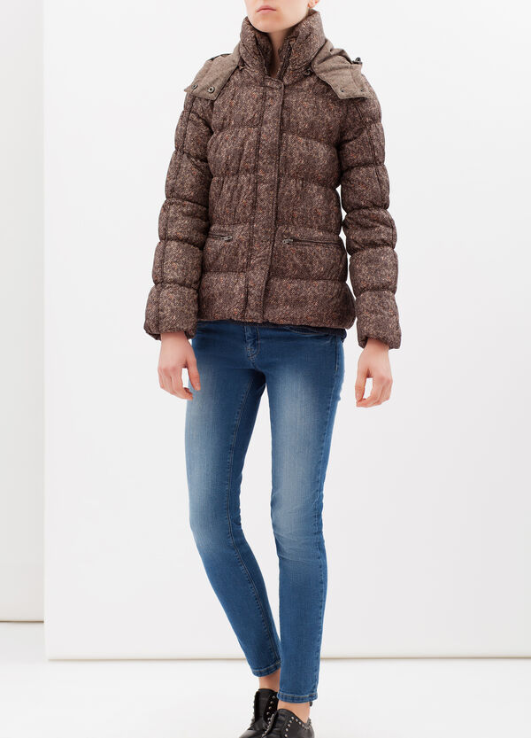 Quilted jacket with hood   OVS