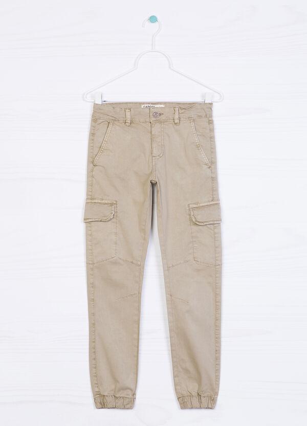 Stretch cotton cargo pants | OVS