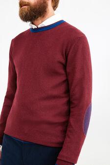 Cashmere blend Rumford pullover, Claret Red, hi-res