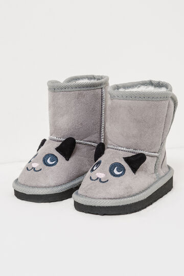 Ankle books with ears and embroidery, Grey, hi-res