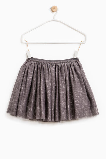 Pleated tulle skirt with pattern, Lilac, hi-res