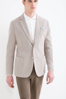 Rumford cotton blend jacket, Beige, hi-res
