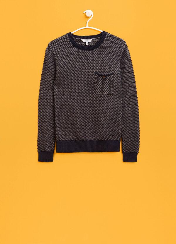Jersey en punto tricot de mezcla de algodón con estampado | OVS
