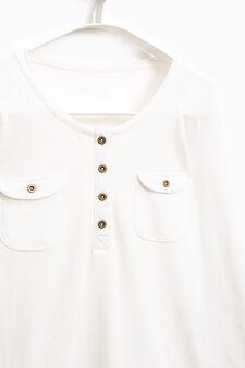 Smart Basic T-shirt with pockets, White, hi-res