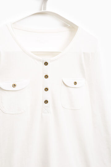 T-shirt con taschini Smart Basic, Bianco, hi-res