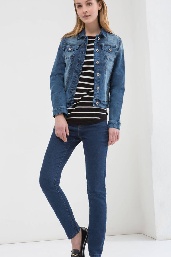 Denim jacket with faded effect | OVS