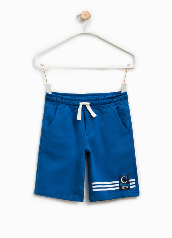 Bermuda shorts with print and patch | OVS