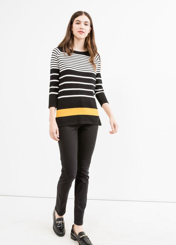 Pantaloni slim fit cotone tinta unita | OVS