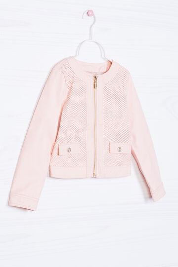 Solid colour 100% viscose jacket, Peach Orange, hi-res