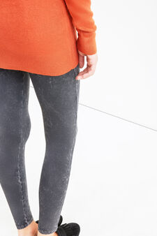 Teen mis-dyed stretch cotton leggings, Slate Grey, hi-res
