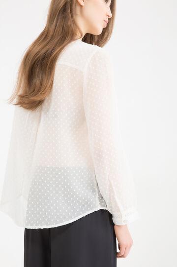 Semi-sheer shirt, Light Beige, hi-res