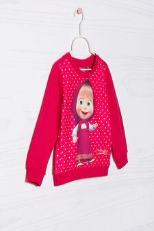 T-shirt Masha&Orso cotone stretch, Rosso ciliegia, hi-res