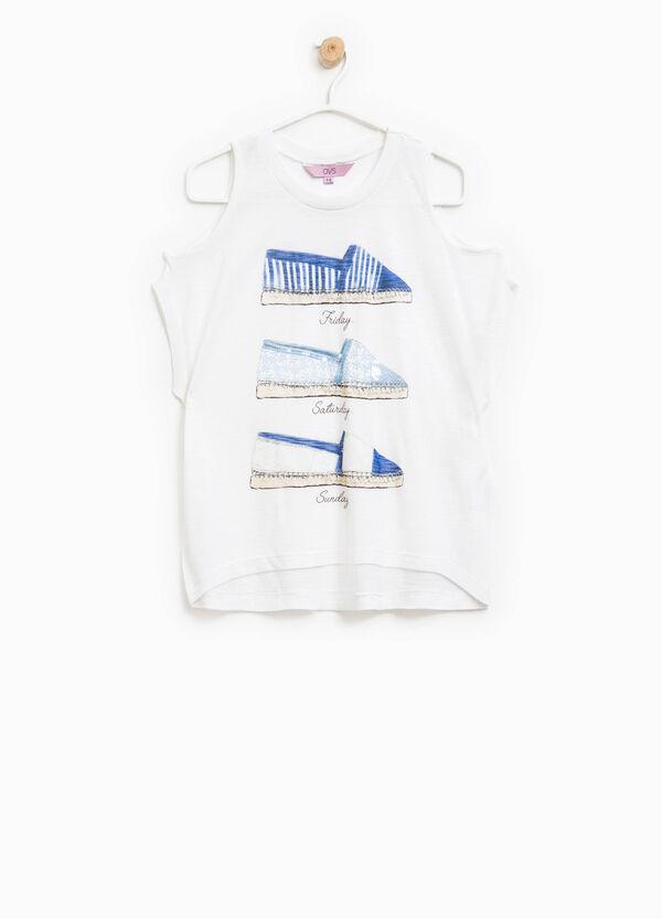 T-shirt lunga stampata con paillettes | OVS