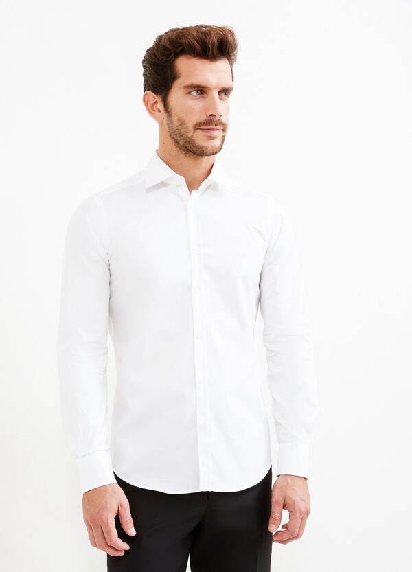 Slim fit cotton formal shirt | OVS