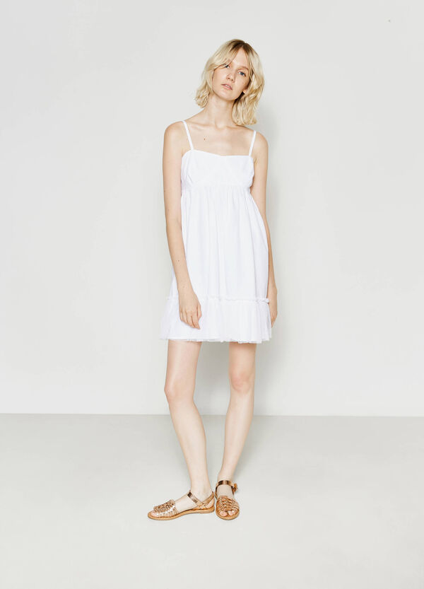 Cotton dress with tulle | OVS