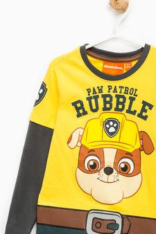 T-shirt cotone stampa Paw Patrol, Multicolor, hi-res