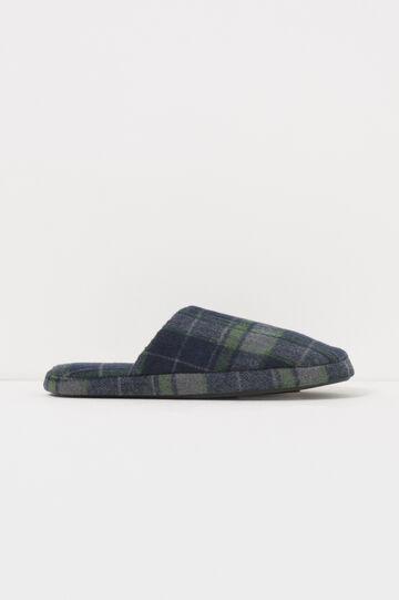 Pantofole in tela fantasia tartan, Blu/Verde, hi-res
