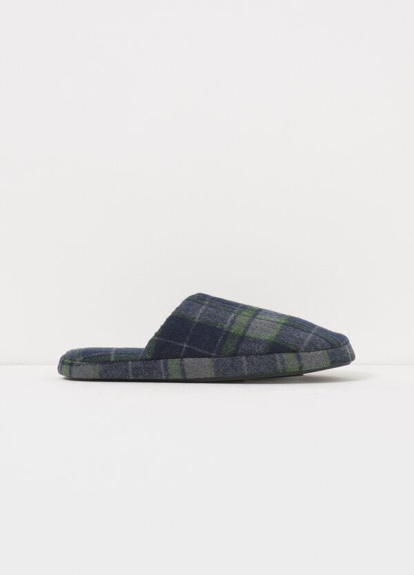 Pantofole in tela fantasia tartan | OVS