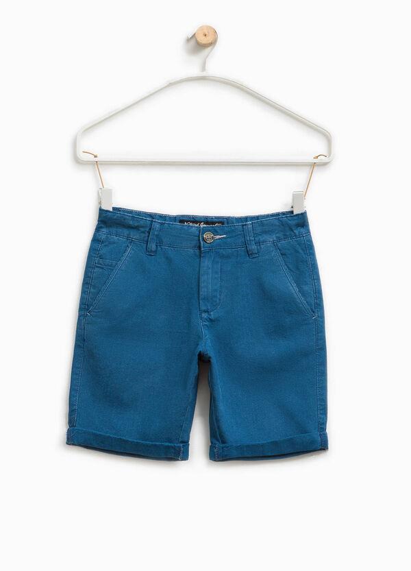 Solid colour cotton Bermuda shorts | OVS