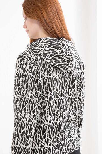 Curvy printed gym hoodie