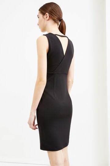 Sleeveless stretch jersey dress, Black, hi-res