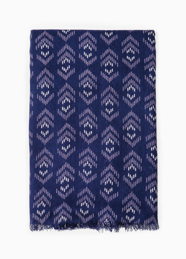 Viscose scarf with geometric pattern | OVS