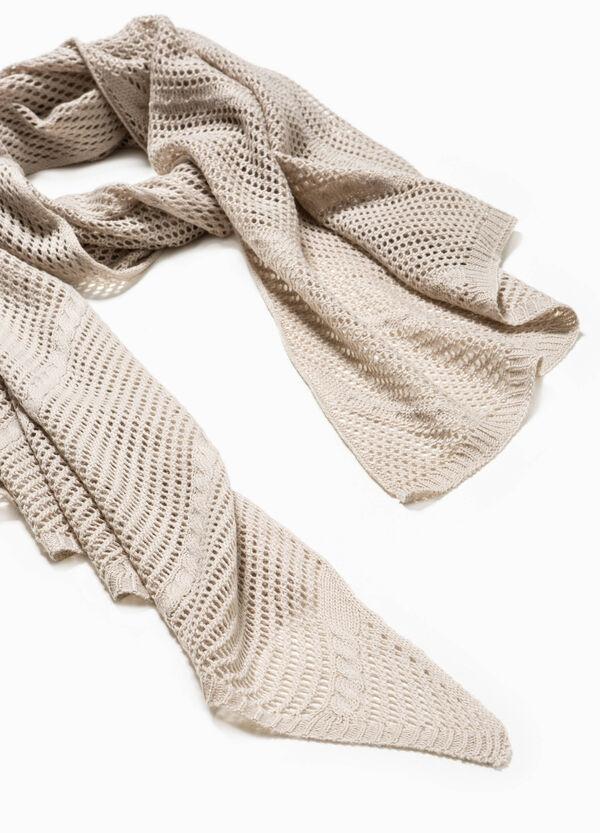 Bufanda en punto tricot con diseño calado | OVS