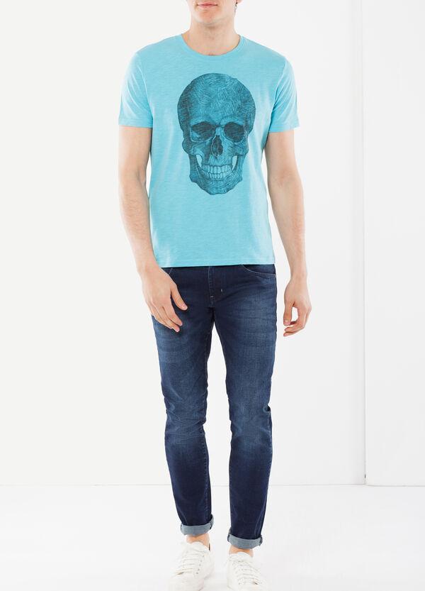 T-shirt con stampa teschi   OVS
