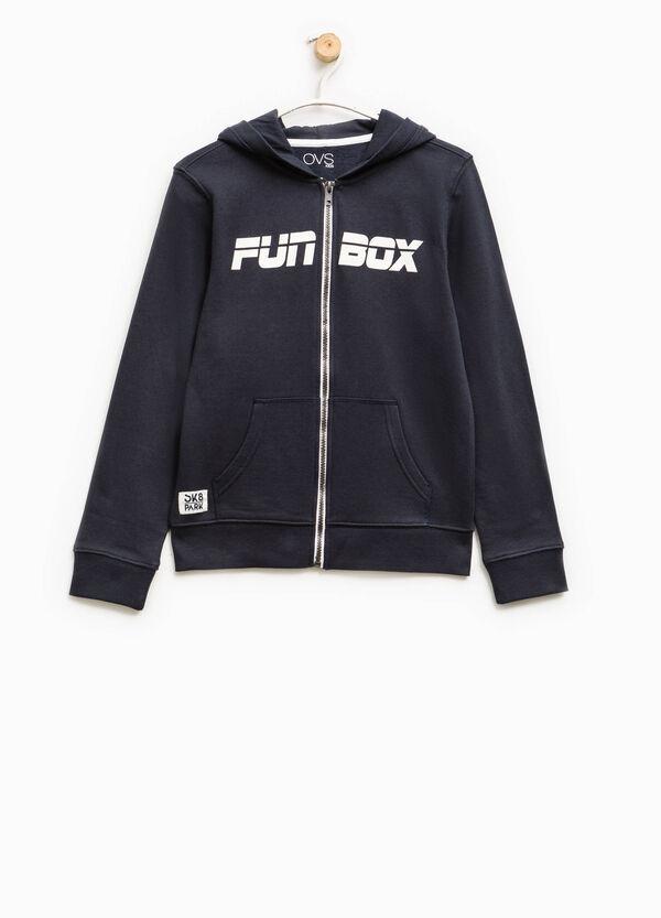 100% cotton sweatshirt with zip | OVS