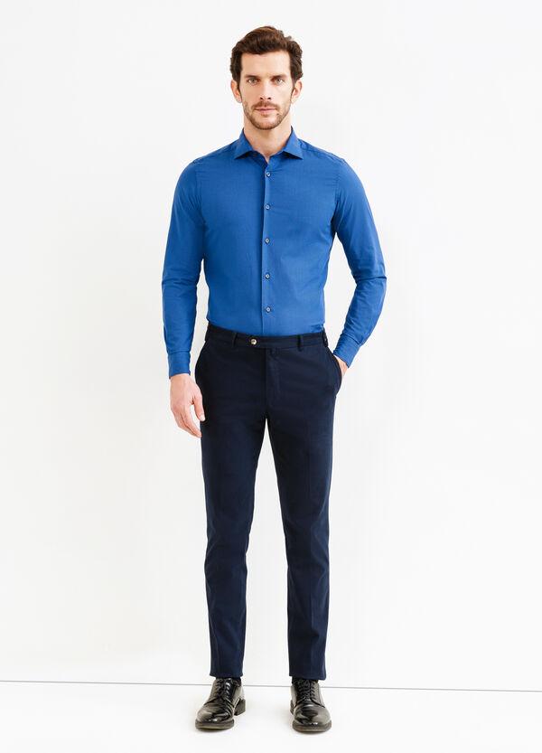 Slim-fit micro-check Rumford shirt | OVS