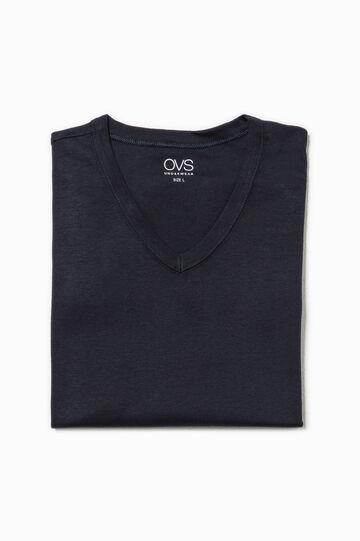 V-neck undervest, Navy Blue, hi-res