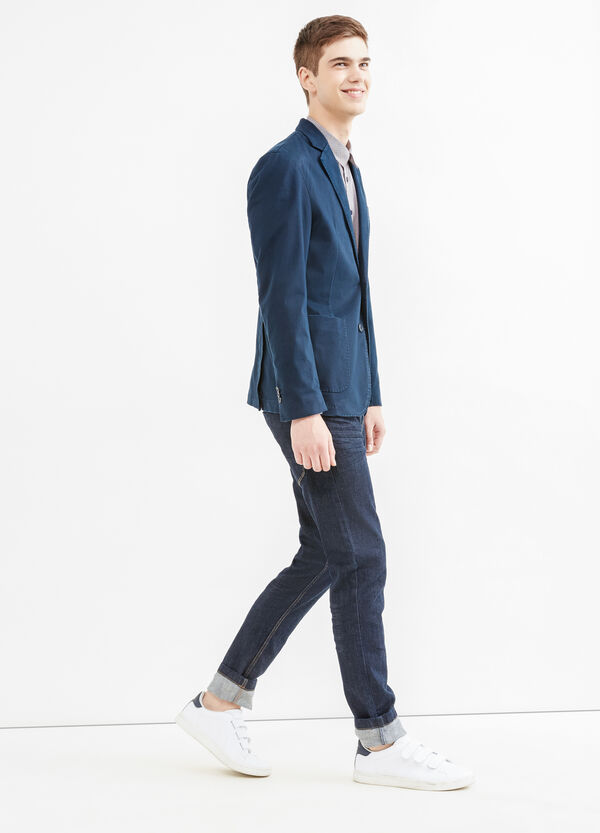 Stretch cotton jacket with two-button fastening | OVS