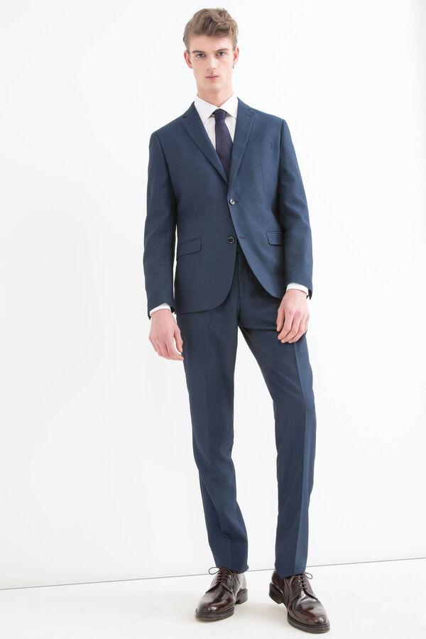 Elegant, viscose blend suit with slim fit | OVS
