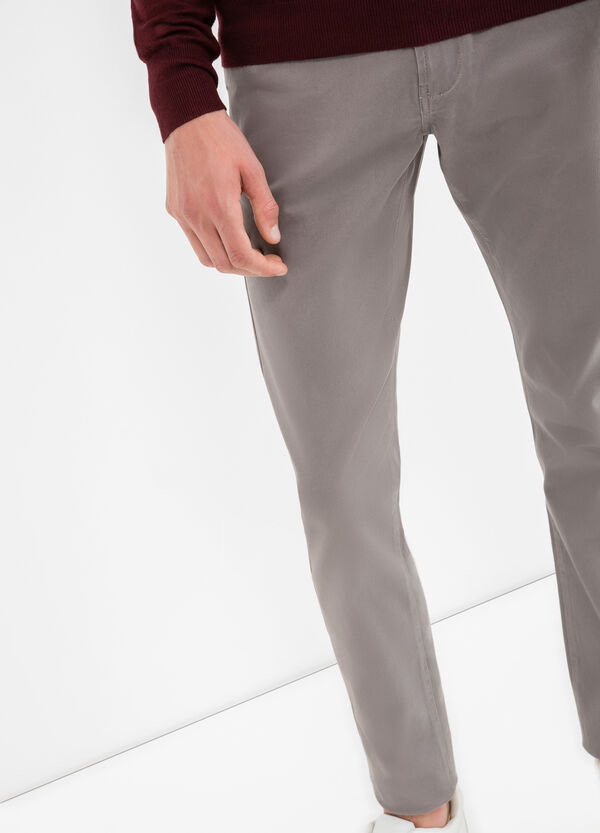 Pantaloni in satin cotone stretch | OVS